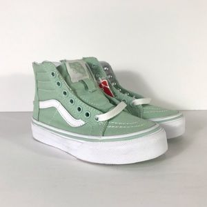 Vans Sk8-Hi Zip Gossamer Green True White Sneakers